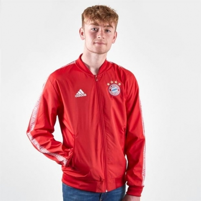 Jacheta adidas FC Bayern Anthem pentru Barbati true rosu