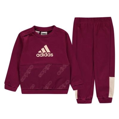 Set adidas Favorite Youth Jogger pentru Bebelusi pentru Copii power roz inchis