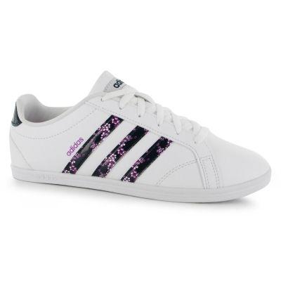 Adidasi adidas Coneo QT din piele pentru femei alb bleumarin roz