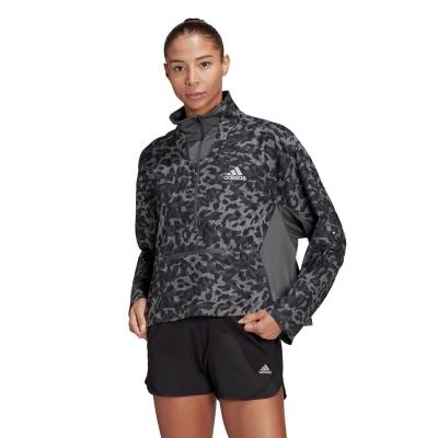adidas Fast cu fermoar pentru Femei gri negru