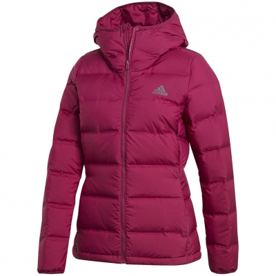 Adidas Helionic Down cu gluga roz GM5345 pentru femei