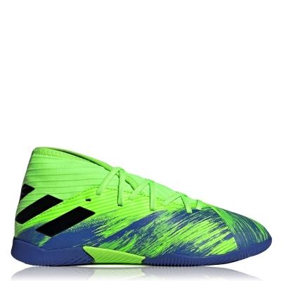Adidasi fotbal de sala adidas Nemeziz pentru Copii verde negru albastru