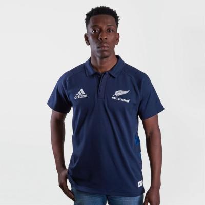 Tricouri Polo adidas New Zealand All Blacks pentru Barbati legend albastru