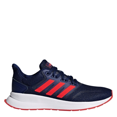 adidas Runfalcon Shoes pentru baieti inchis albastru rosu negru
