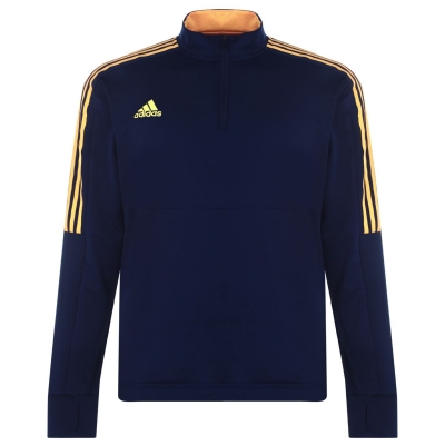 Bluze trening adidas fotbal Trofeo + pentru Barbati bleumarin portocaliu