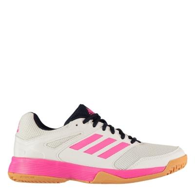 Adidasi de squash adidas pentru Femei alb roz