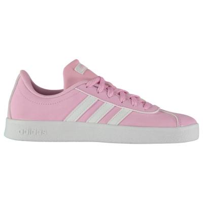 Adidasi adidas VL Court 2 K pentru fete roz alb