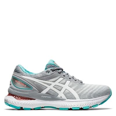 Adidasi alergare Asics Gel-Nimbus 22 pentru femei gri alb