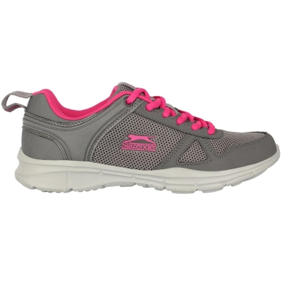 Adidasi alergare Slazenger Force plasa pentru Femei gri carbune roz