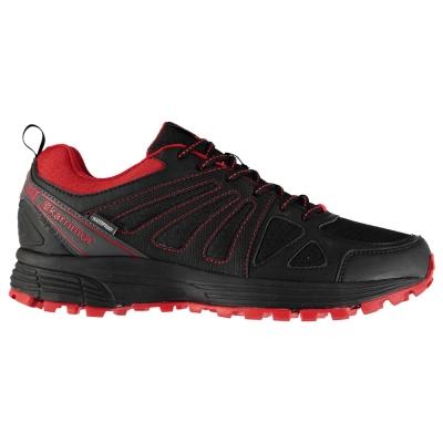Adidasi alergare Karrimor Caracal impermeabil pentru Barbati negru rosu