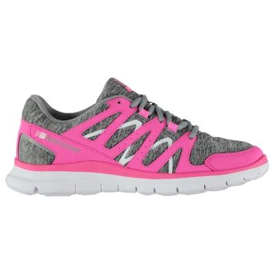 Adidasi alergare Karrimor Duma pentru fetite gri marl roz
