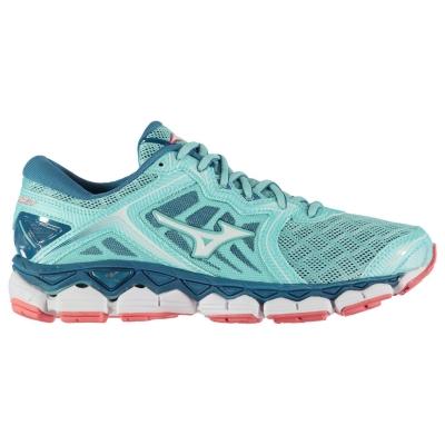 Adidasi alergare Mizuno Wave Sky pentru Femei albastru aqua alb coral