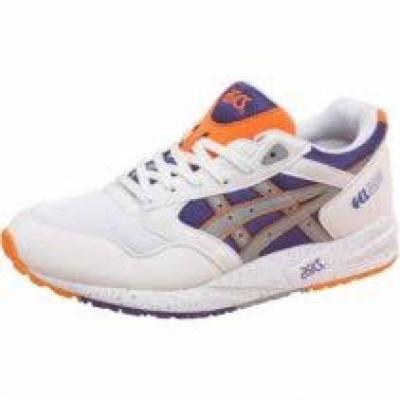 Adidasi Asics Tiger Gel Saga White/Light gri pentru baieti alb mov portocaliu