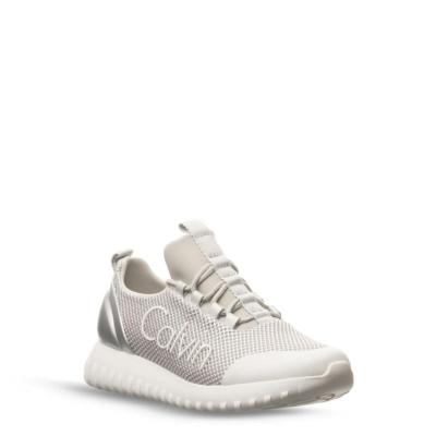 Adidasi Calvin Klein Jeans Reika femei argintiu alb