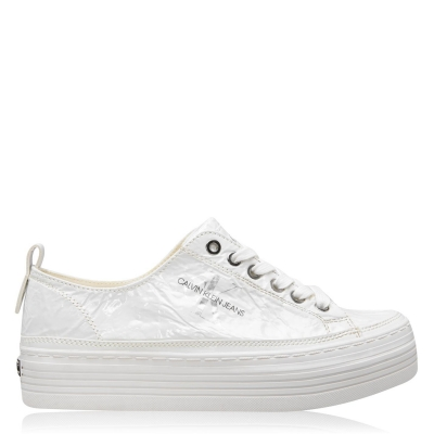 Adidasi Calvin Klein Jeans Zolah femei alb