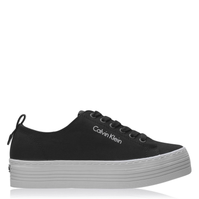 Adidasi Calvin Klein Jeans Zowie pentru Femei negru alb