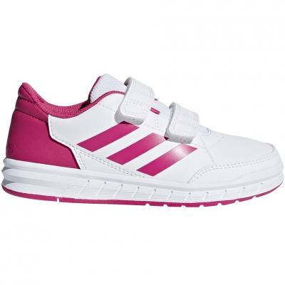 Adidasi copii Adidas AltaSport CF K alb roz D96828