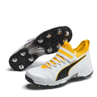 Adidasi cricket Puma 19.1 Bowling pentru Barbati alb negru portocaliu