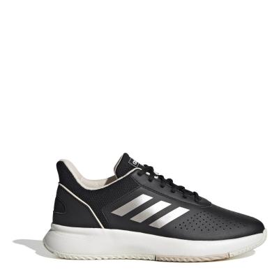 Adidasi de Tenis adidas Courtsmash pentru femei negru alb roz