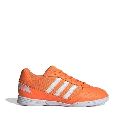 Adidasi fotbal de sala adidas Super Sale pentru copii portocaliu alb