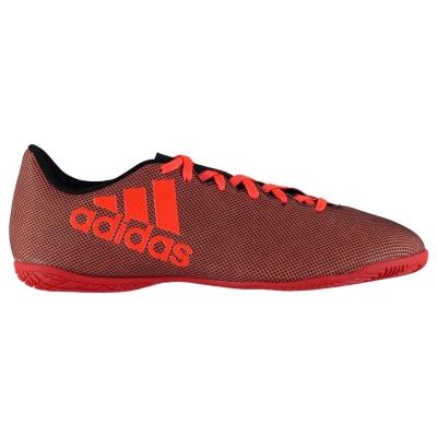 Adidasi fotbal de sala adidas X 17.4 pentru Barbati negru portocaliu