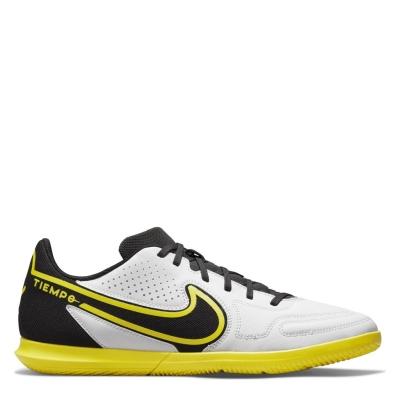 Adidasi fotbal de sala Nike Tiempo Legend Club alb negru galben