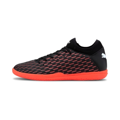 Adidasi fotbal de sala Puma Future 6.4 negru portocaliu