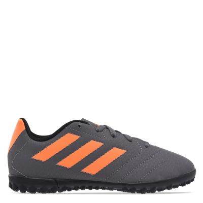 Adidasi Gazon Sintetic adidas Goletto pentru copii gri portocaliu