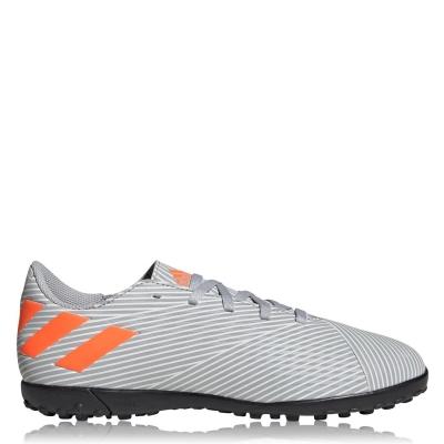 Adidasi Gazon Sintetic adidas Nemeziz 19.4 pentru Copii gri portocaliu