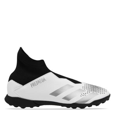 Adidasi Gazon Sintetic adidas Predator 20.3 Laceless pentru copii alb metsilver