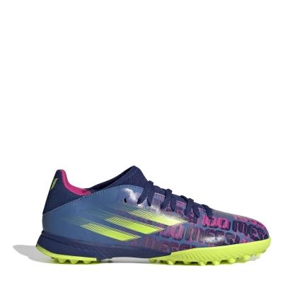 Adidasi Gazon Sintetic adidas X Messi .3 pentru copii albastru roz