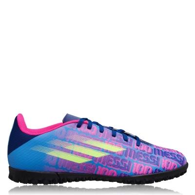 Adidasi Gazon Sintetic adidas X Messi .4 albastru roz