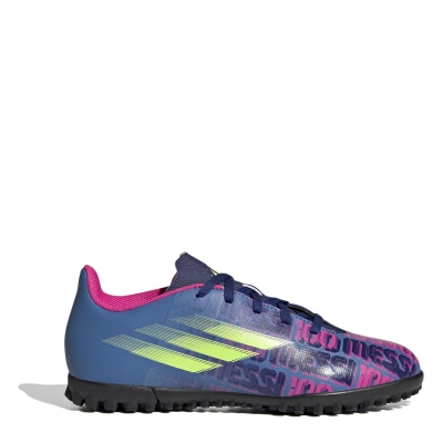 Adidasi Gazon Sintetic adidas X Messi .4 pentru Copii albastru roz