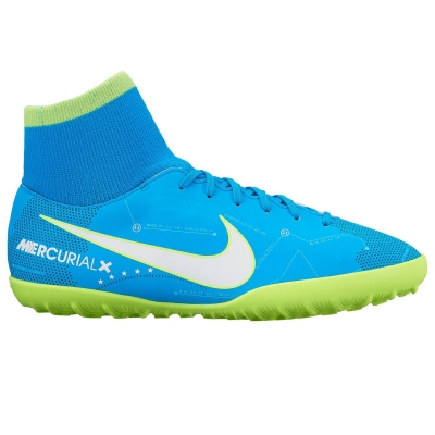 Adidasi Gazon Sintetic Nike Mercurial Victory Neymar DF pentru copii copii albastru alb volt