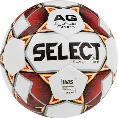 Minge fotbal gazon sintetic Select Flash 5 2019 IMS alb rosu portocaliu 14990