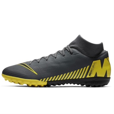 Adidasi Gazon Sintetic Nike Mercurial Superfly Academy DF gri inchis galben