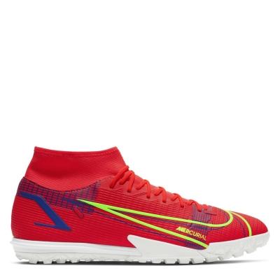 Adidasi Gazon Sintetic Nike Mercurial Superfly Academy DF rosu inchis verde