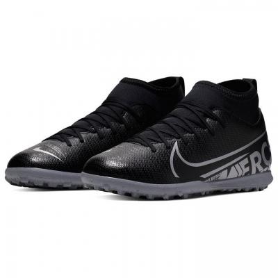 Adidasi Gazon Sintetic Nike Mercurial Superfly Club DF pentru copii negru gri inchis