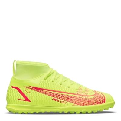 Adidasi Gazon Sintetic Nike Mercurial Superfly Club DF pentru copii galben rosu inchis