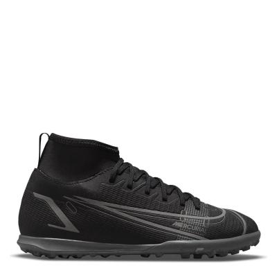 Adidasi Gazon Sintetic Nike Mercurial Superfly Club DF pentru copii negru irongrey