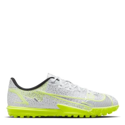 Adidasi Gazon Sintetic Nike Mercurial Vapor Academy pentru copii alb negru galben