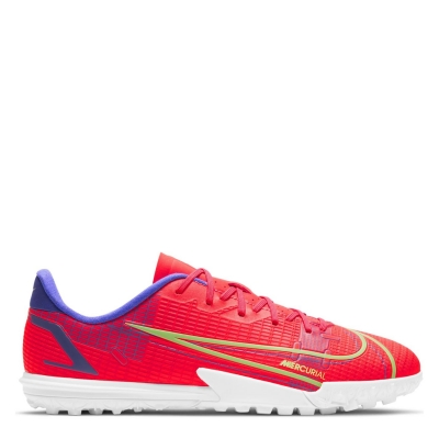 Adidasi Gazon Sintetic Nike Mercurial Vapor Academy pentru Copii rosu inchis verde