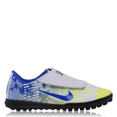Adidasi Gazon Sintetic Nike Mercurial Vapor Club Neymar pentru Copii copii alb albastru negru