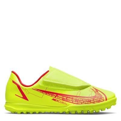 Adidasi Gazon Sintetic Nike Mercurial Vapor Club pentru Copii galben rosu inchis