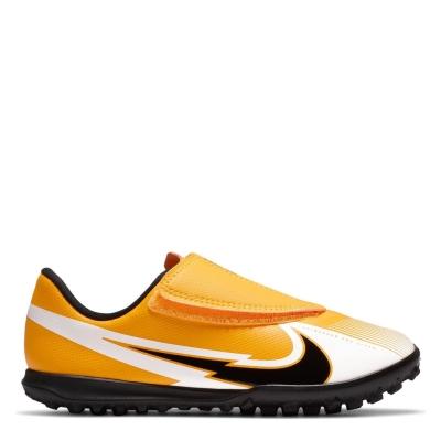 Adidasi Gazon Sintetic Nike Mercurial Vapor Club pentru Copii laserorange alb