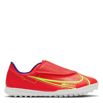 Adidasi Gazon Sintetic Nike Mercurial Vapor Club pentru Copii rosu inchis verde