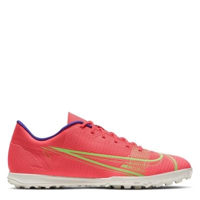 Adidasi Gazon Sintetic Nike Mercurial Vapor Club rosu inchis verde