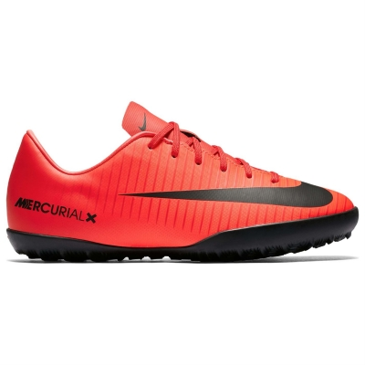 Adidasi Gazon Sintetic Nike Mercurial Victory pentru Copii rosu negru