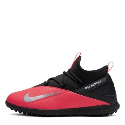 Adidasi Gazon Sintetic Nike Phantom Vision Club DF pentru copii rosu inchis negru