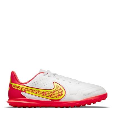 Adidasi Gazon Sintetic Nike Tiempo Legend Club pentru Copii alb galben